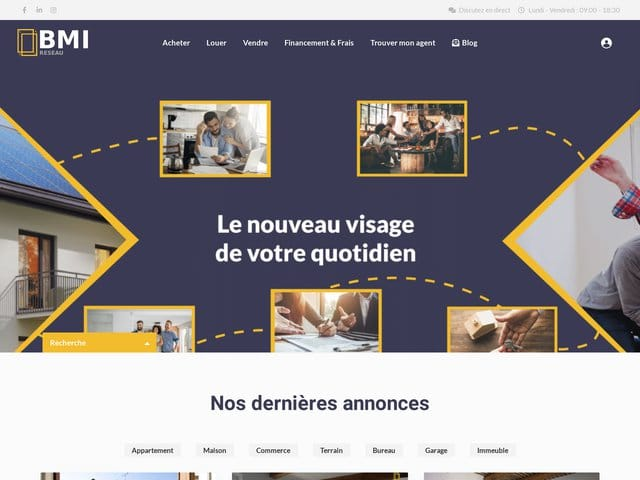 Miniature site immobmi digydia agence